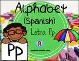 Spanish Alphabet. Letter Pp/ Letra Pp