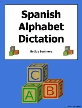 Spanish Alphabet Letter Practice Dictation and Listening Activity - El Alfabeto