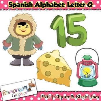 Spanish Alphabet Letter Q Clip art