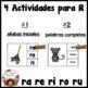 Spanish Alphabet Letter R - 4 Rompecabezas (ra, re, ri, ro
