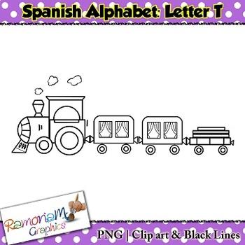 Spanish Alphabet Letter T Clip art
