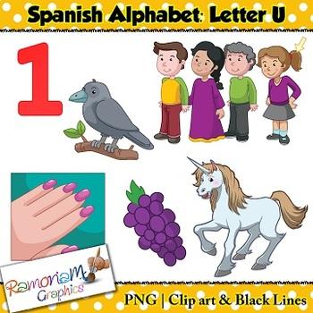 Spanish Alphabet Letter U Clip art