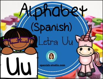 Spanish Alphabet. Letter Uu/ Letra Uu