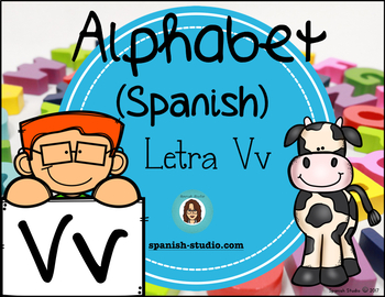 Spanish Alphabet. Letter Vv/ Letra Vv