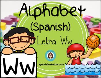 Spanish Alphabet. Letter Ww/ Letra Ww