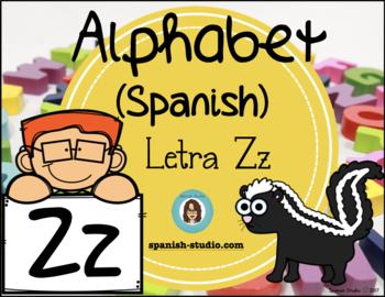 Spanish Alphabet. Letter Zz/ Letra Zz
