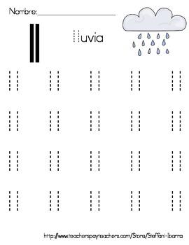 Spanish Alphabet Lowercase Letter Tracing