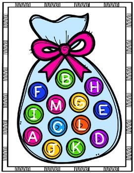 Spanish Alphabet Match Bilingual Center or File Folder Game