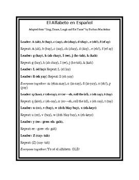 Spanish Alphabet Mini-Unit