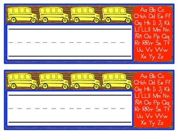 Spanish Alphabet Name Plates