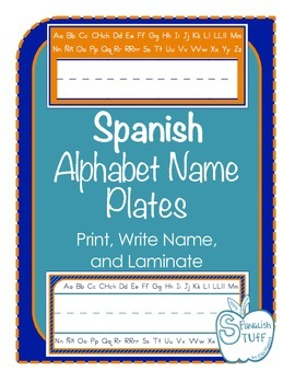 Spanish Alphabet Name Plates-FREEBIE