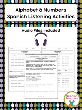 Spanish Alphabet & Numbers Listening Activities