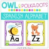 Spanish Alphabet - Owl & Polka Dots {Custom Request}