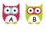 Spanish Alphabet Owl Word Wall Labels