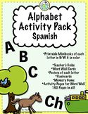 Spanish Alphabet Pack with Mini books Word Wall & More