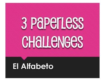 Spanish Alphabet Paperless Challenges