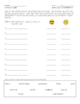 Spanish Alphabet Partner Work