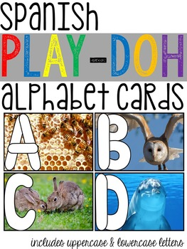 Spanish Alphabet Play-Doh Photo Cards