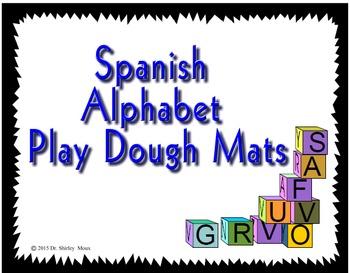 Spanish Alphabet Play Dough Mats