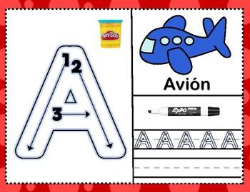 Spanish Alphabet Play-doh Mats (Expo Too)