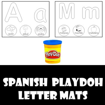 Spanish Alphabet Playdoh Mats