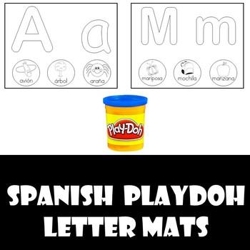 Spanish Alphabet Playdoh Mats
