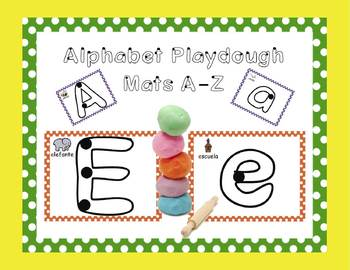 Spanish Alphabet Playdough Mats!