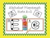 Spanish Alphabet Playdough Mats!