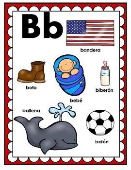 Spanish Alphabet Posters Set 1