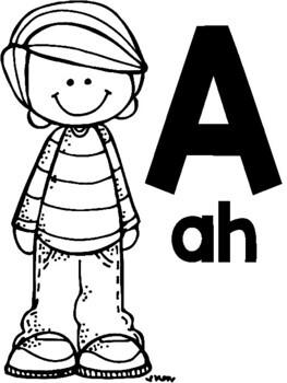 Spanish Alphabet Posters (blackline)