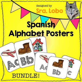 Spanish Alphabet Posters BUNDLE