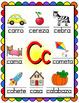 Spanish Alphabet Posters - Beginning Sounds  (Rainbow Scallop Frame)