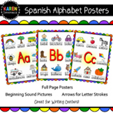 Spanish Alphabet Posters - LARGE - Beginning Sounds