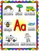 Spanish Alphabet Posters - Beginning Sounds  (Rainbow Scal