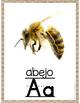 Spanish Alphabet Posters - Burlap