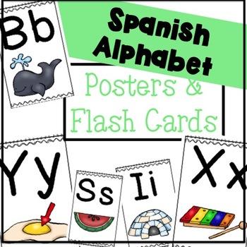 Spanish Alphabet Posters & Flash Cards