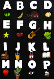 Spanish Alphabet Posters: Carteles o arte del alfabeto español
