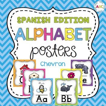 Spanish Alphabet Posters - Chevron