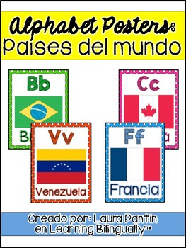 Spanish Alphabet Posters: Countries