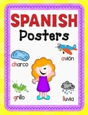 Dual Language Spanish Alphabet Posters:  Gomez and Gomez style.
