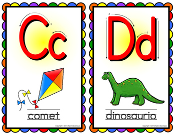 Spanish Alphabet Posters - SMALL - Beginning Sounds