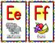 Spanish Alphabet Posters - SMALL - Rainbow Scallop