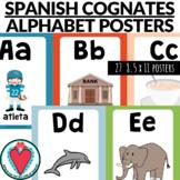 Spanish Alphabet Posters - Spanish Cognates - Beginning Sp