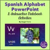 Spanish Alphabet PowerPoint and Interactive Notebook Activities