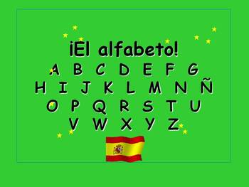 Spanish Teaching Resources. Alphabet PowerPoint Slide