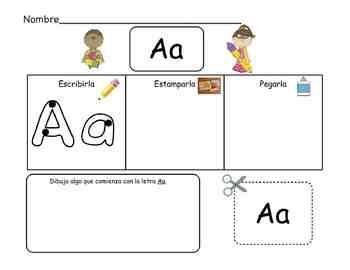Spanish Alphabet Practice Pack A-Z