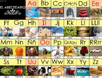 "Spanish Alphabet 8.5""x11"" Printable"