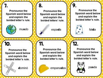 Spanish Alphabet Pronunciation Practice Flash Cards_Letter D