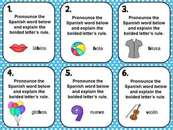Spanish Alphabet Pronunciation Practice Flash Cards_Letters BV