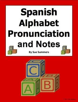 Spanish Alphabet Pronunciation and Notes - El Alfabeto